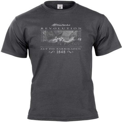 Deutsche Revolution 1848 T-shirt dunkelgrau