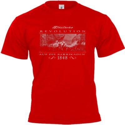 Deutsche Revolution 1848 T-shirt rot