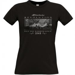 Deutsche Revolution 1848 T-shirt schwarz Frauen