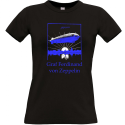 Ferdinand von Zeppelin T-shirt schwarz Frauen