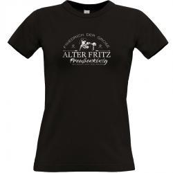 Friedrich der Große T-shirt schwarz Frauen