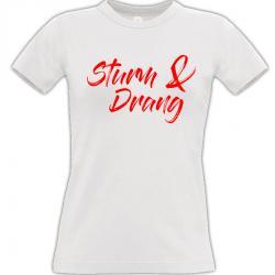 Sturm & Drang T-shirt weiss Frauen