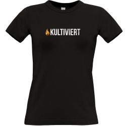 kultiviert T-shirt schwarz Frauen