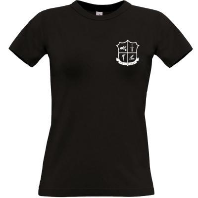 kultiviert Wappen T-shirt schwarz Frauen