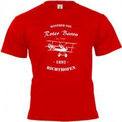 Manfred von Richthofen Roter Baron T-shirt rot